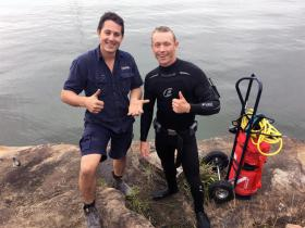 Successful scuba dive recovery, rose gold wedding band dropped into the murky waters of the parramatta river, Matt (owner) was great help and supplied a ladder which was much appreciated. All the best Matt & Shelley.