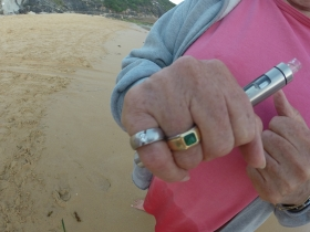 Ingrids PLATINUM Diamond Ring Recovered from water North Curl Curl Beach.